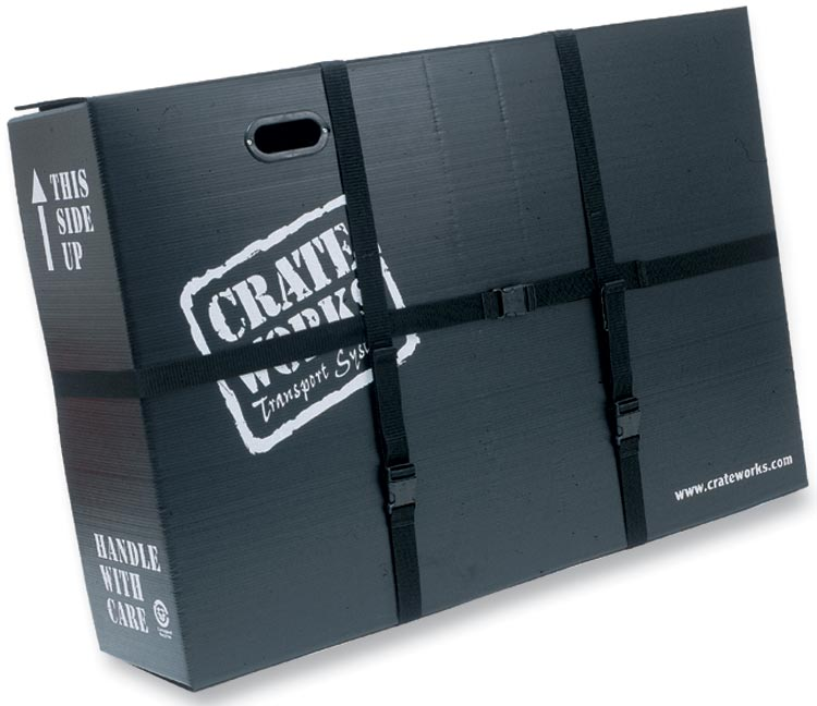 Crate Works Pro XL-C packed bike box outer